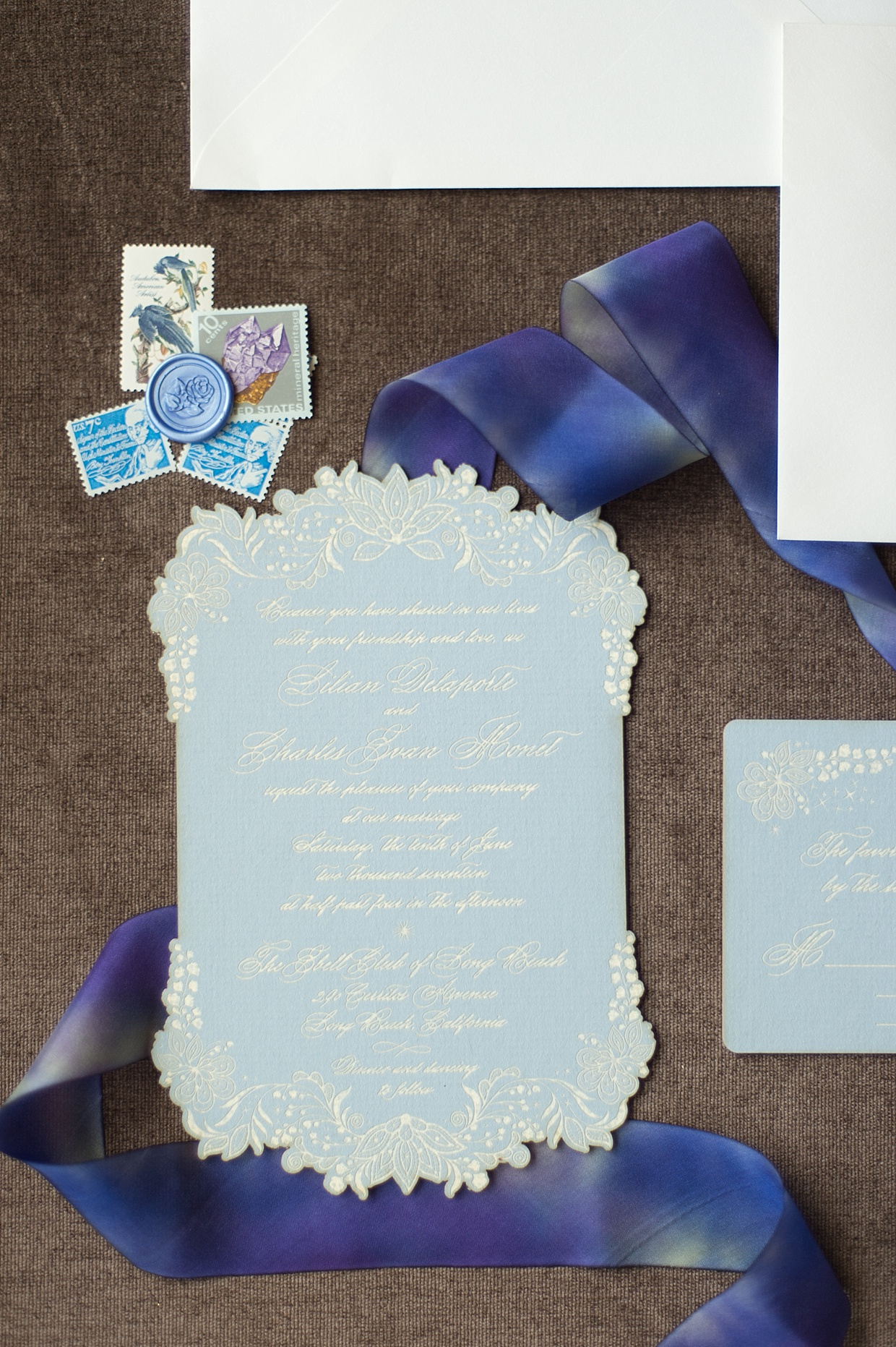 los angeles wedding invitations